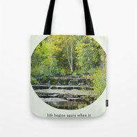 fitzgerald Tote Bags featuring fall leaves + f scott fitzgerald by lissalaine
