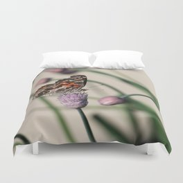Butterfly and Chives Duvet Cover