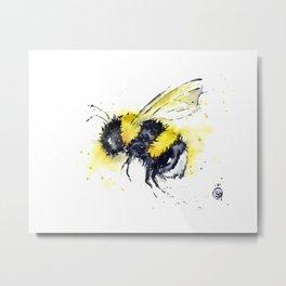 Bumble Bee - Buzz Metal Print