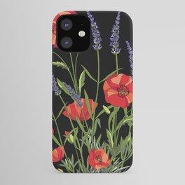 Poppies & Lavendar iPhone Case