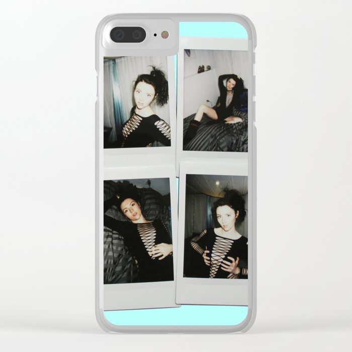 pretty nice 1ed29 4e65c Polaroids Clear iPhone Case by hayleelove