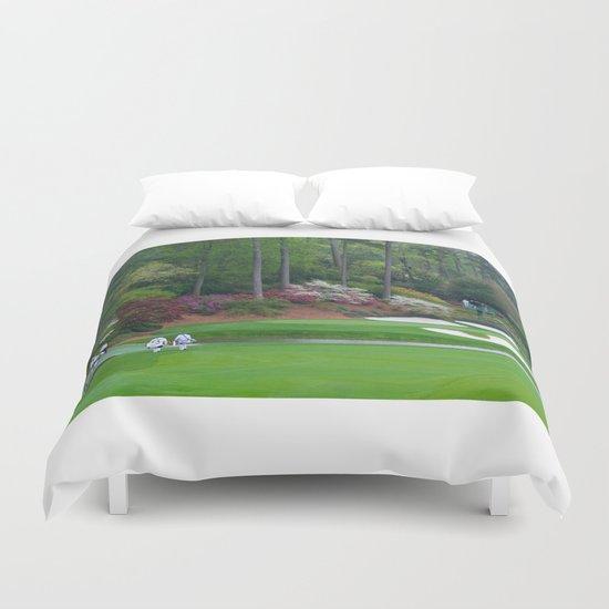 Golf's Amen Corner Augusta Georgia - Golfers on Bridge by sturgil
