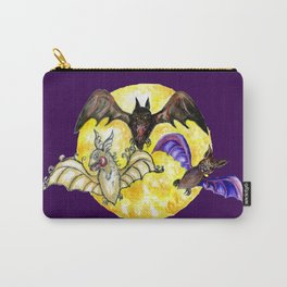 Three Bats in Watercolor Carry-All Pouch