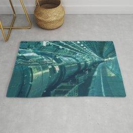 Switzerland Cern Large Hadron Collider Artistic Illustration Under Water Style Rug