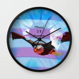 #Proud 2 B American Wall Clock