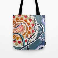 lotus Tote Bags featuring Lotus by brenda erickson