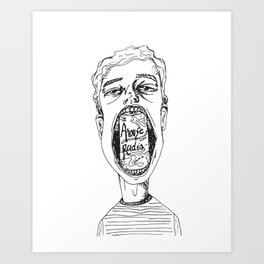 LA CROIX BOY Art Print