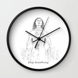 Keep breathing Wall Clock