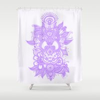 henna Shower Curtains featuring Purple Henna by haleyivers
