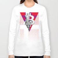 denmark Long Sleeve T-shirts featuring bitcoin denmark by seb mcnulty