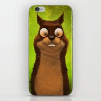 squirrel iPhone & iPod Skins featuring Squirrel by Tatyana Adzhaliyska