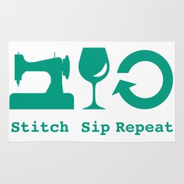 Sewing and Wine Rug