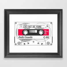 Audio Cassette SIDE A ▲LIVEFASTDIEYOUNG▲ RED Framed Art Print