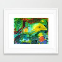 dolphin Framed Art Prints featuring Dolphin by Silke Powers