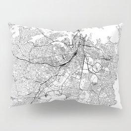 Sydney White Map Pillow Sham