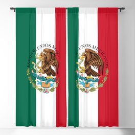 Flag of Mexico & Coat of Arms augmented scale Blackout Curtain