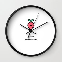 JUST A PUNNY RADISH JOKE! Wall Clock