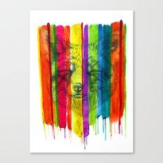 Colorful Fox Canvas Print