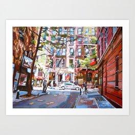 Minetta Lane, Greenwich Village Art Print