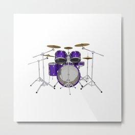 Purple Drum Kit Metal Print