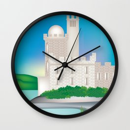 County Cork, Ireland - Skyline Illustration by Loose Petals Wall Clock