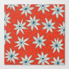 sema fire orange blue Canvas Print