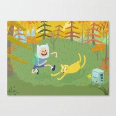adventure friends Canvas Print