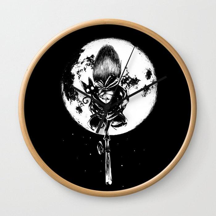 A Noir Witch Wall Clock