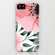 Big Watercolor Flowers Slim Case iPhone SE