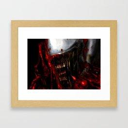 White Alien Framed Art Print
