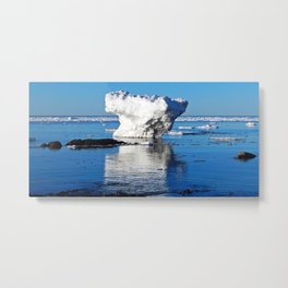 Iceberg in the Shallows Metal Print