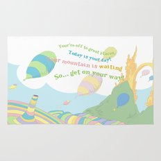 so.. Get on your way! Oh the places you'll go  Rug