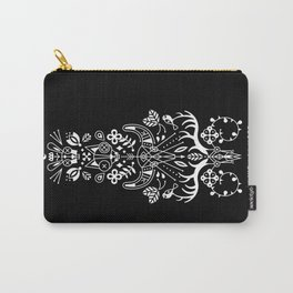La Vie + La Mort: White Ink Carry-All Pouch