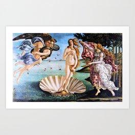Sandro Botticelli - The Birth Of Venus - Digital Remastered Edition Art Print