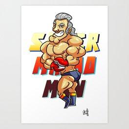 Super Punch-Out's Super Macho Man! Art Print
