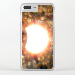 Solar Eclipse at 7,000 feet New Mexico 8/21/17 Clear iPhone Case