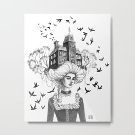 Chimney Swifts Metal Print
