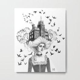 Chimney Swifts Metal Print