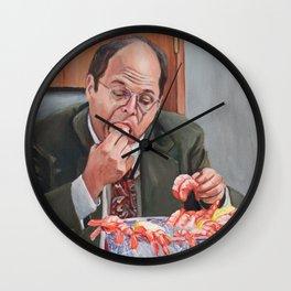 Jerk Store - George Costanza Eats Shrimp Wall Clock