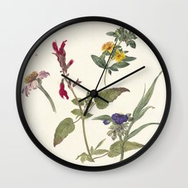 Pieter Ernst Hendrik Praetorius - Studies of wild flowers (1837) Wall Clock