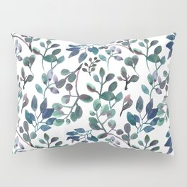 Jade and Succulent Watercolor Plant Pattern Pillow Sham