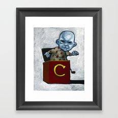 Charlie in the Box Framed Art Print