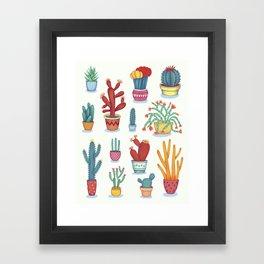 Cactus Poster Framed Art Print