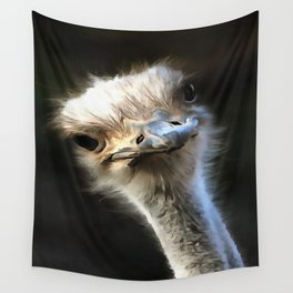 Ostrich Head Wall Tapestry