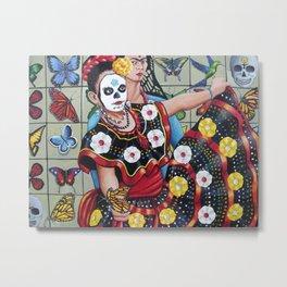 Viva la Vida con Frida Kahlo Metal Print