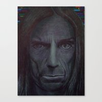 iggy pop Canvas Prints featuring iggy pop by odinelpierrejunior
