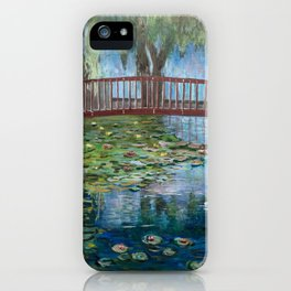 Lilly Pads at Lake Te Koutu - Monet Inspired iPhone Case