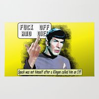 spock Area & Throw Rugs featuring Spock.... by PsychoBudgie