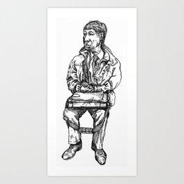 Tube Man Art Print