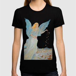 Bless me | Guardian Angels are Here | Angel of Abundance | Love T-shirt